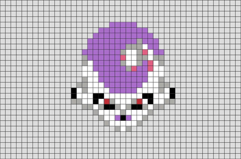 dragon ball frieza pixel art