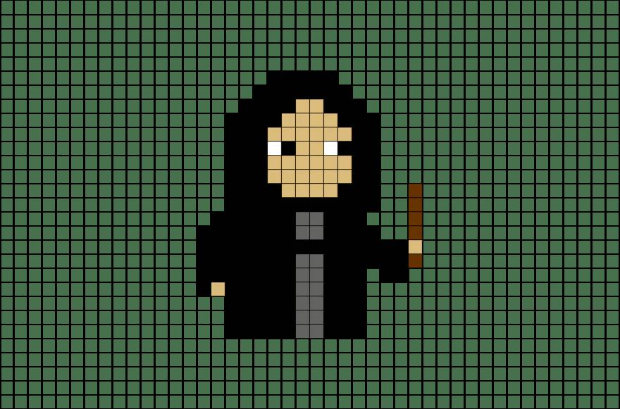 Harry Potter Severus Snape Pixel Art – BRIK
