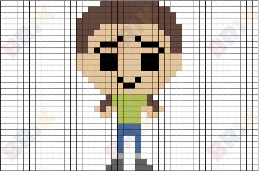 Morty Pixel Art Brik