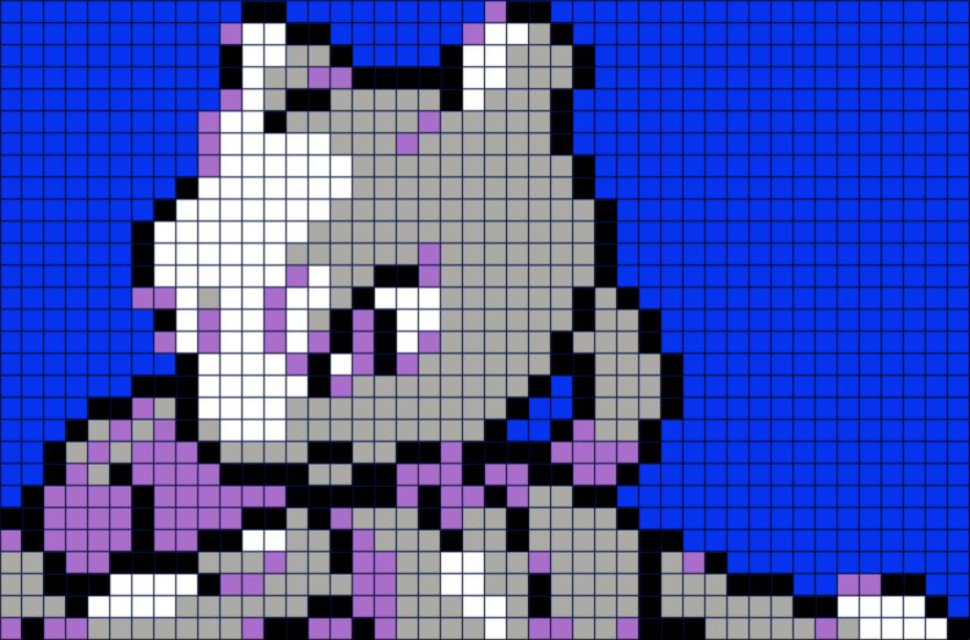 Pokemon Mewtwo Pixel Art BRIK