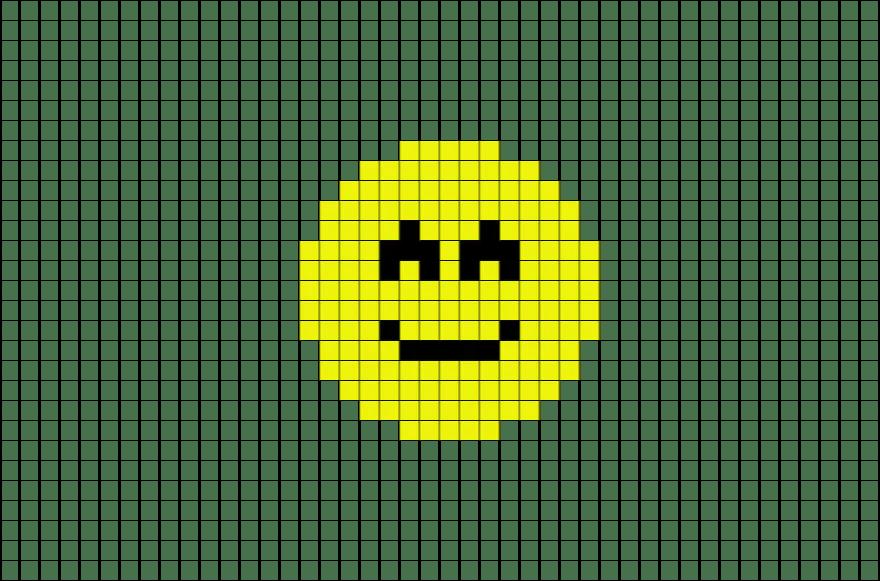 Slightly Smiling Face Emoji Pixel Art  BRIK