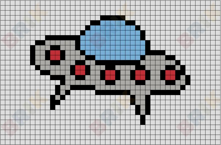 Spaceship Pixel Art  BRIK
