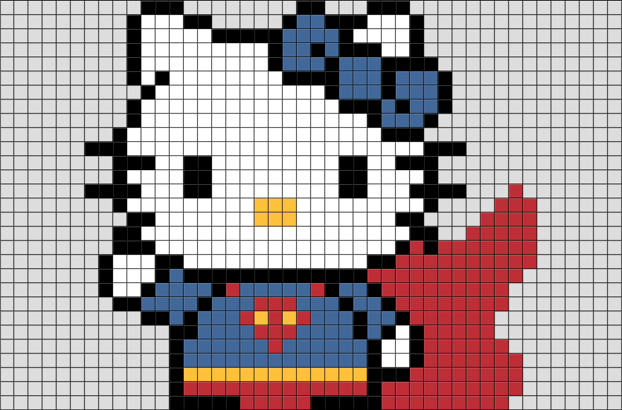 Super Kitty Pixel Art BRIK