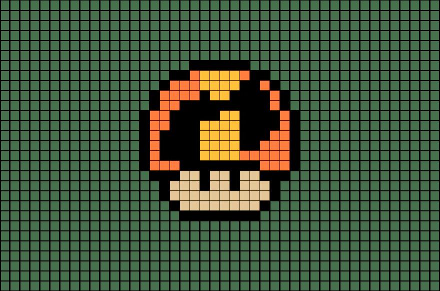 mario mushroom pixel art png