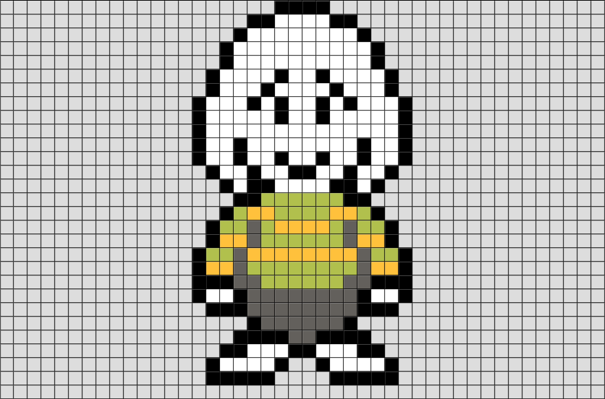 Scary Undertale Chara Grid Pixel