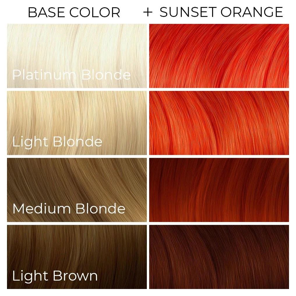 sunset orange arctic fox - dye