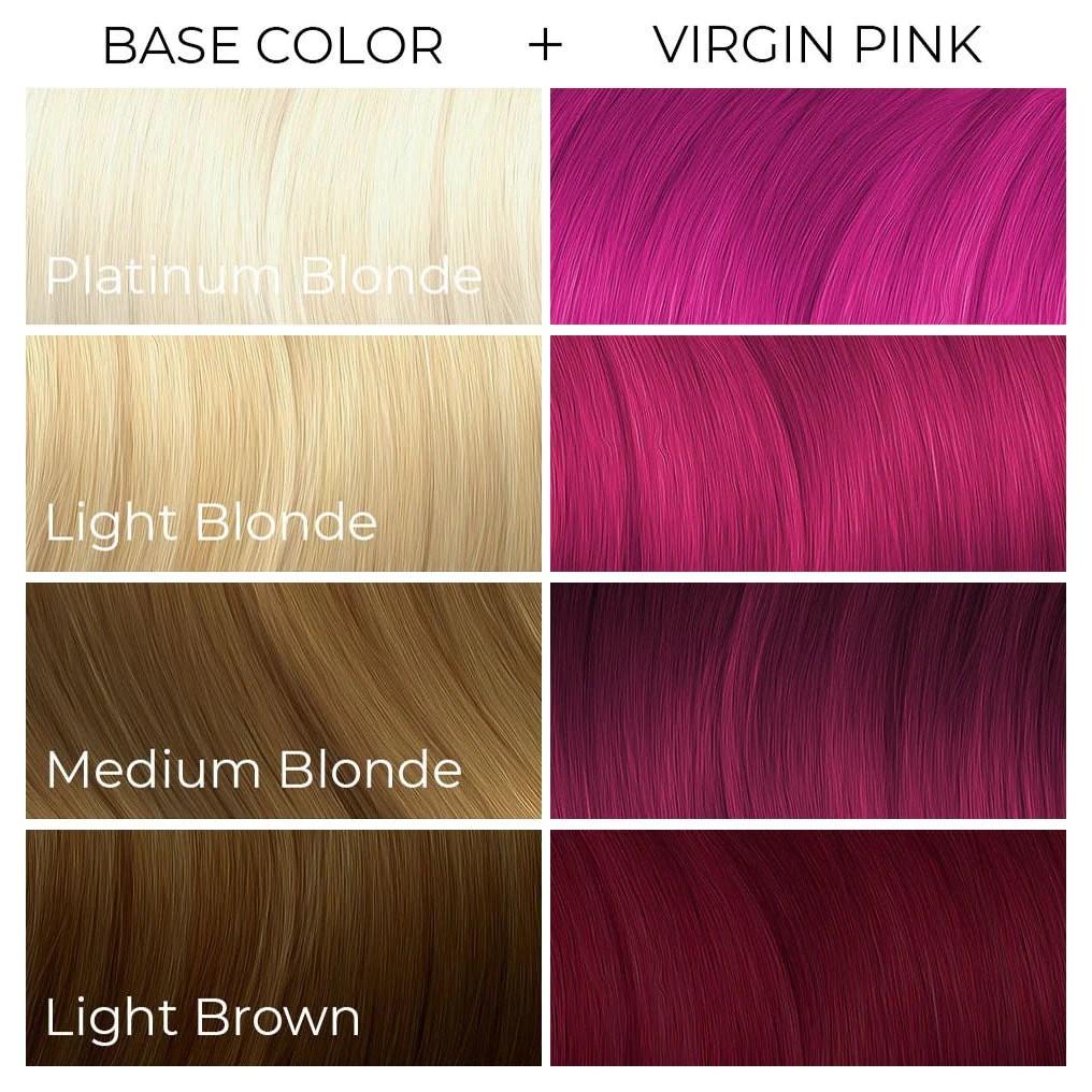 virgin pink arctic fox - dye