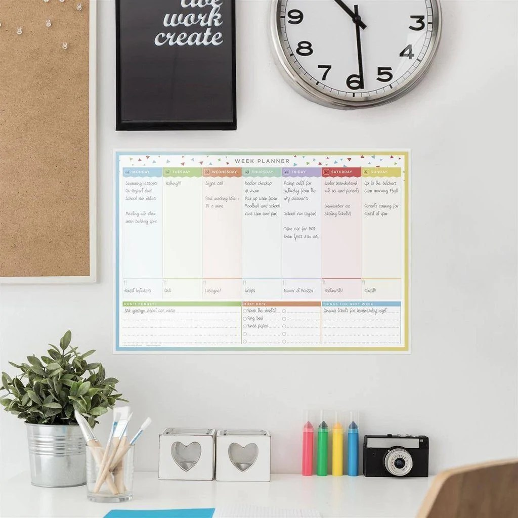 Wall planners laminated weekly planner also chart rh butlerandhill