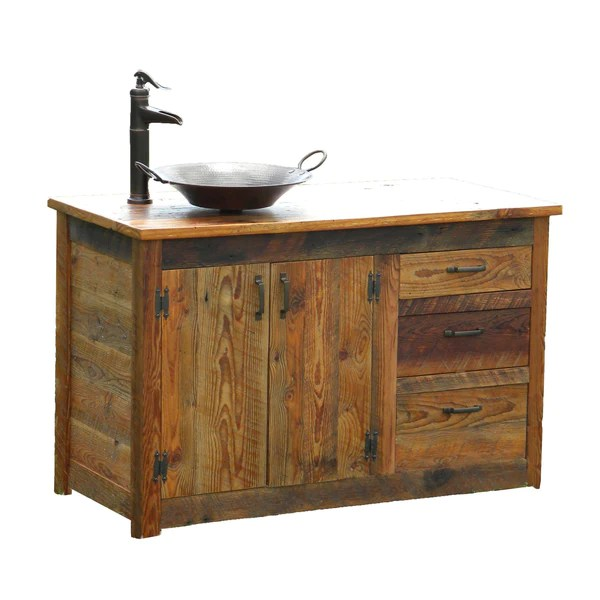 Rusted Nail Reclaimed Wood Bathroom Vanity The Spotted Door
