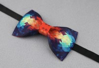 Crazy Bow Tie   Navy   Red Mosaic - ChicerMan