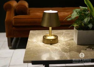 mini metal cordless lamp antique brass