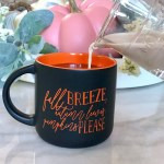 Fall Breeze Autumn Leaves Pumpkins Please Coffee Mug Pretty Collected