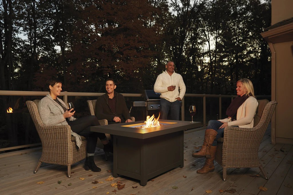 Patio Gas Fireplace Table Napoleon Hampton Patio Flame Square Fire Table