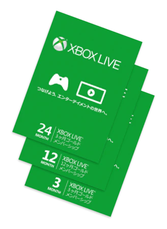 Xbox Live Gold Solaris Japan Cards