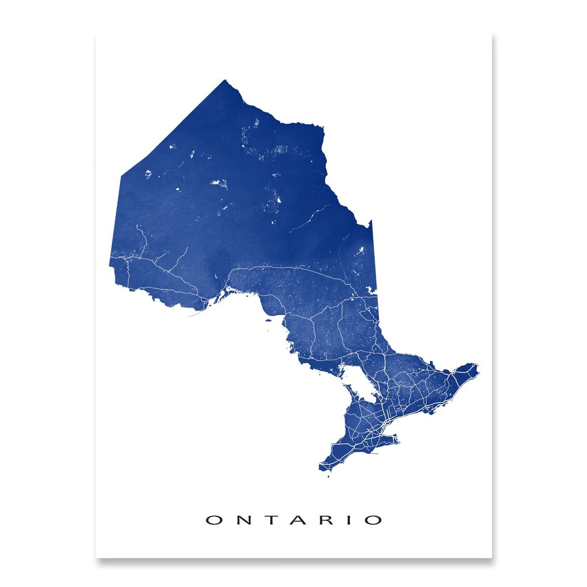 Ontario Map Print Canada Colors Maps Art