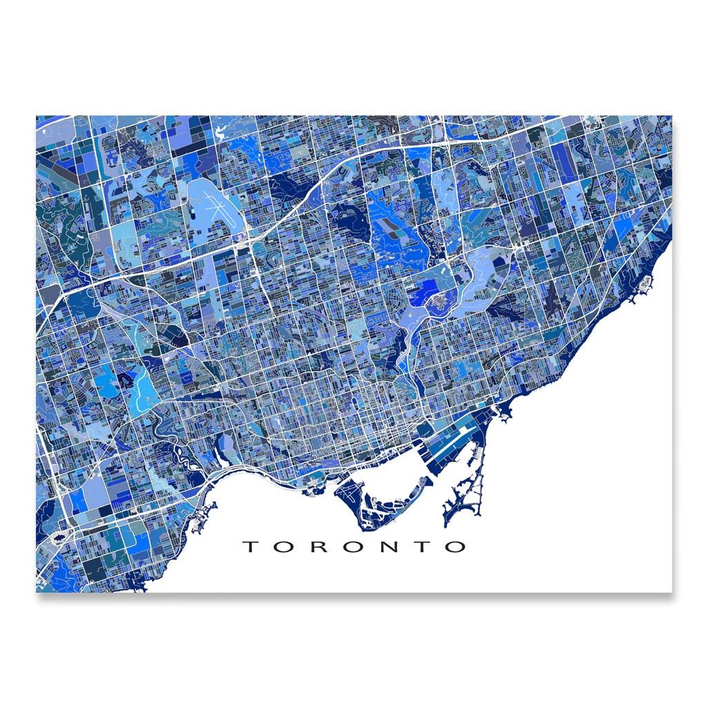 Toronto Map Print Ontario Canada Maps Art