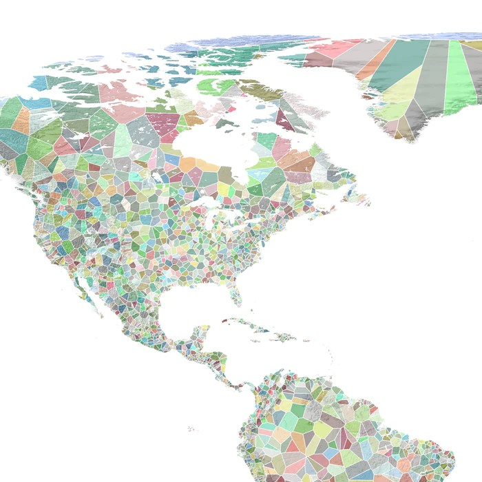 world map print colorful