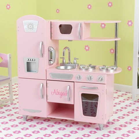 kidkraft pink retro kitchen & refrigerator 53160 cheap island metal accessories set - 63186 – nurzery.com
