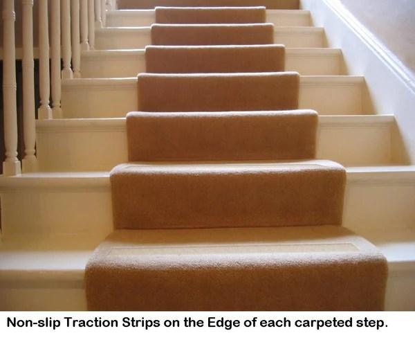 No Slip Strips Gallery P10   Non Slip Strips For Carpeted Stairs   Grip   Stair Nosing   Gravel   Slip Resistant   Brown Cinnamon
