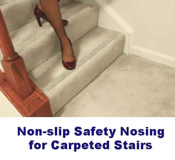 Non Slip Carpet Safety Strips For Carpeted Stairs – No Slip Str*P   Best Non Slip Carpet For Stairs   Wood Stairs   Staircase Remodel   Hardwood Stairs   Flooring   Slip Resistant