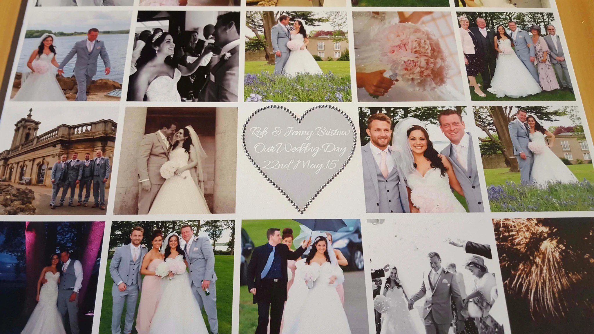 Wedding Collage Bling Canvas