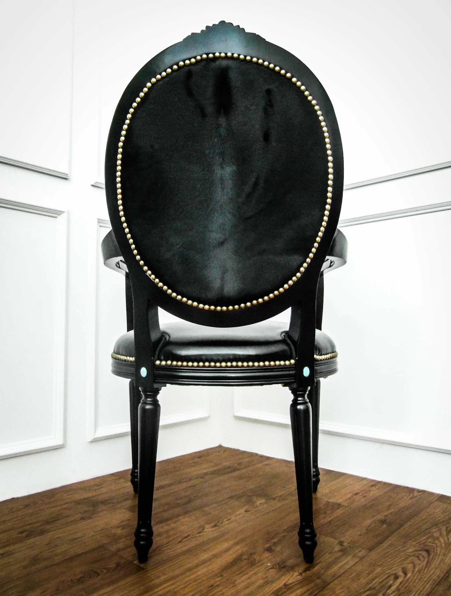 king furniture dining chairs steelcase leap chair with headrest french louis xvi armchair black finnavenue