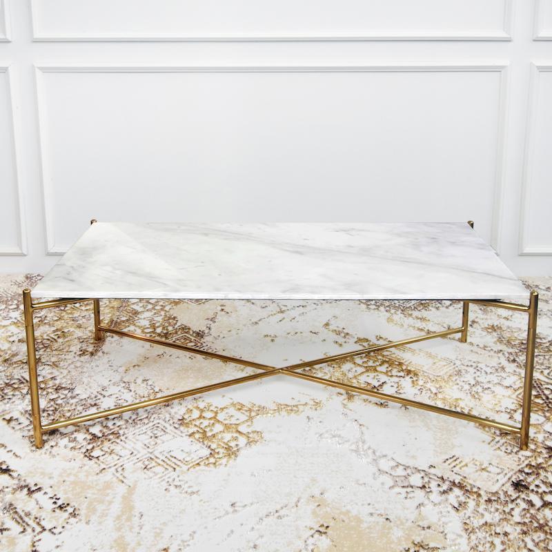 atlas white marble coffee table