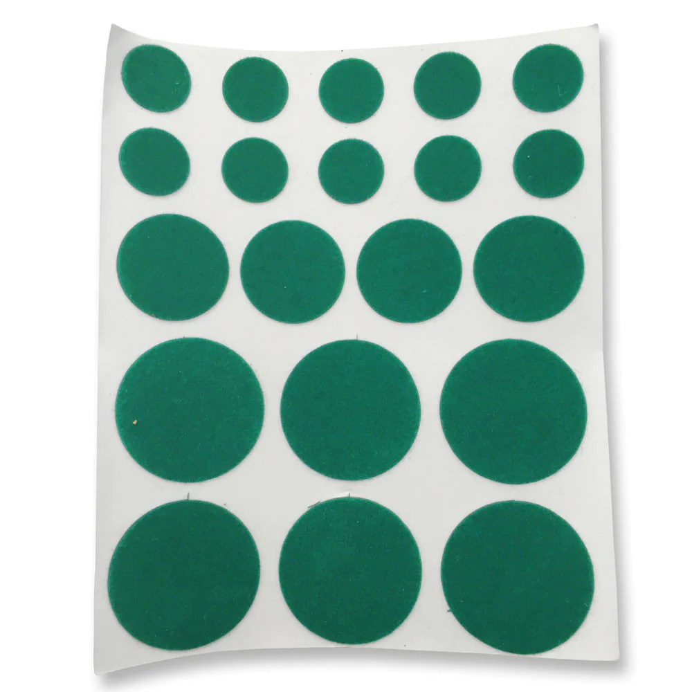 chair felt pads girly office green thin - round (pack of 20) | rkl tools & hardware