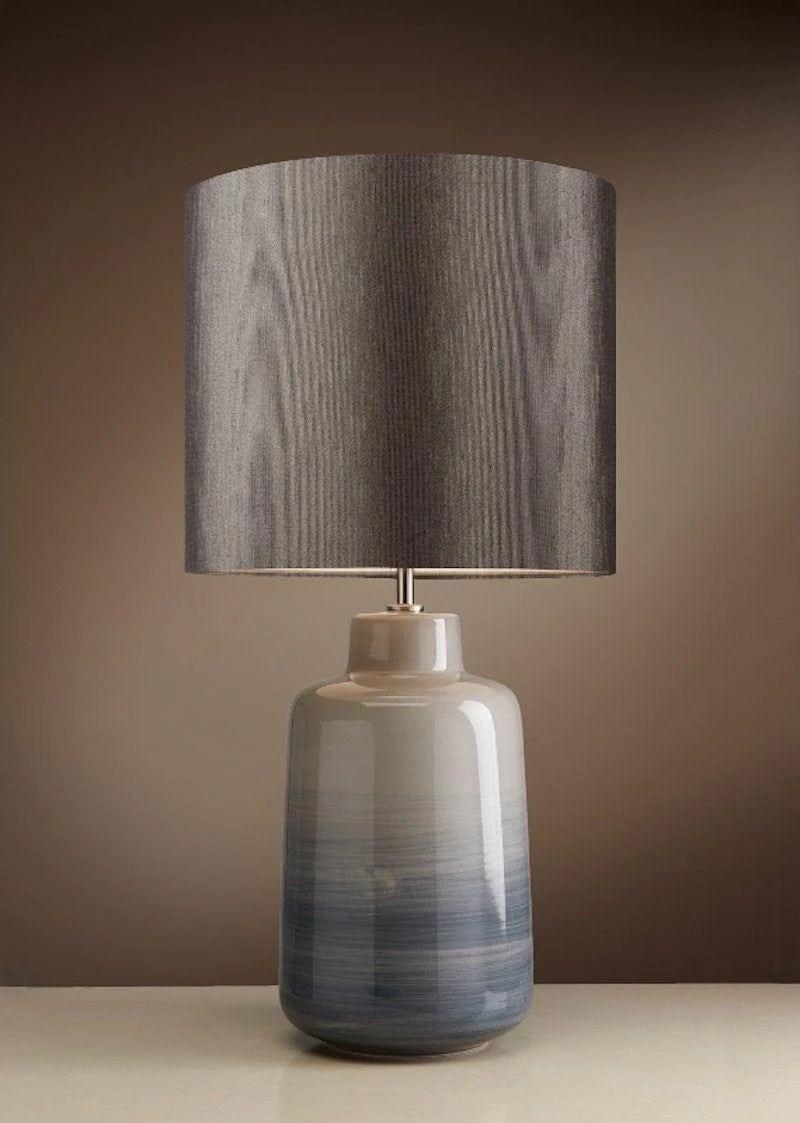 Elstead Bacari Small Blue Grey Table Lamp Bacari Tl Sm Tiffany Lighting Direct