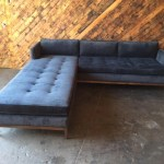Mid Century Style Custom Reversible Sofa Chaise Lounge The Hunt Vintage