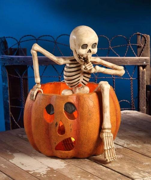 Creeping Skeleton Bethany Lowe Halloween Paper Mache