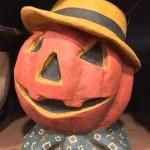 Dapper Jack Pumpkin Bucket Paper Mache Vintage Style Halloween Decor Theholidaybarn Com