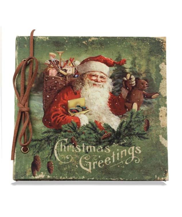 Vintage Santa Scrapbook Bethany Lowe Christmas