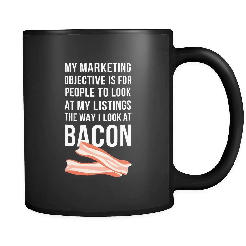 Marketing Objective Bacon Mug - Friend Coworker