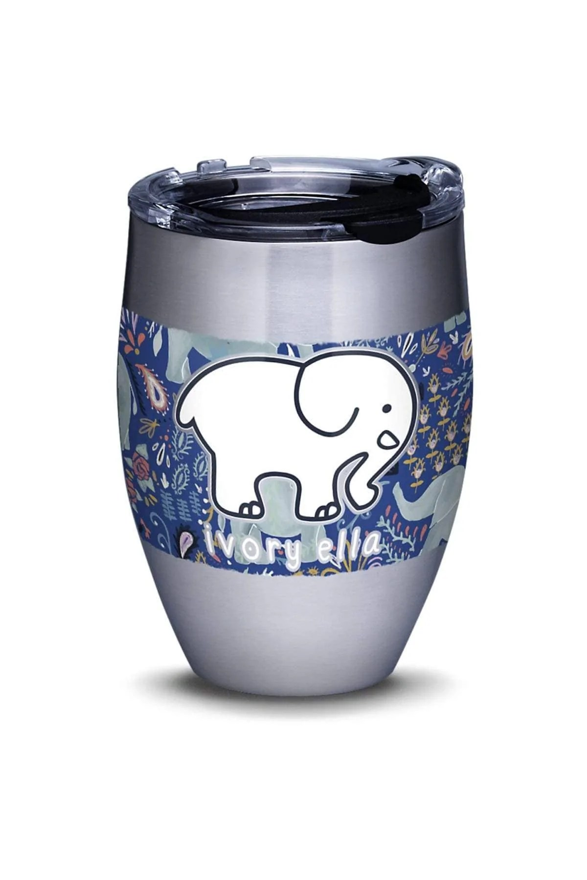 Stainless Steel Tervis Paisley Elephant 12oz Tumbler Ivory Ella