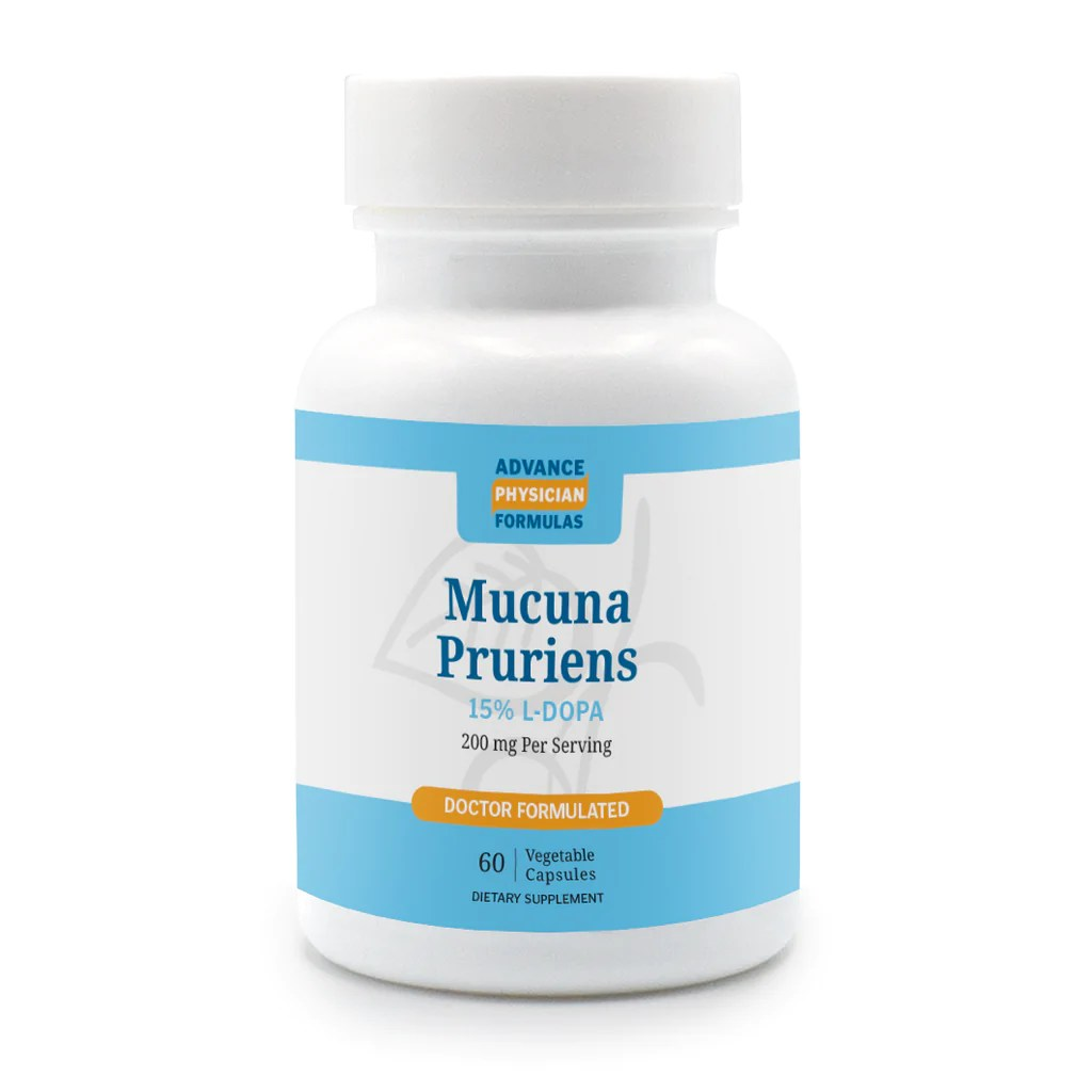 Mucuna Pruriens Extract 15% L-Dopa 200 mg 60 Vegetable ...