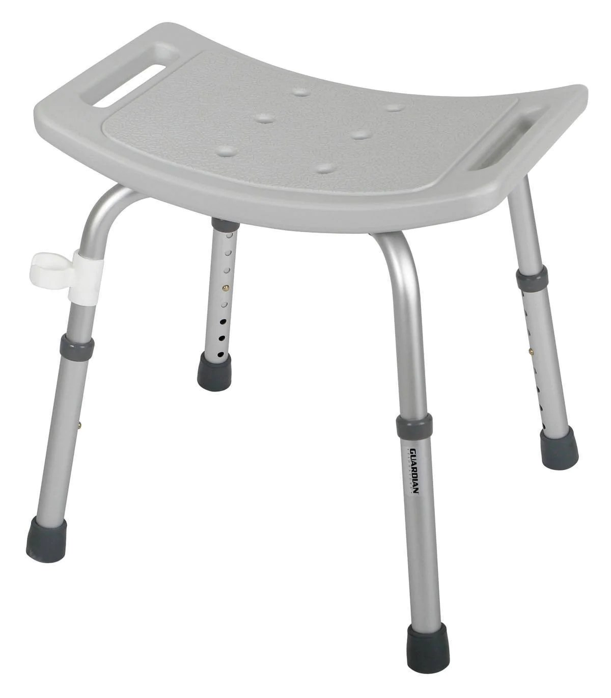 grey bathroom safety shower tub bench chair hook on table high guardian bath seat no back medability healthcare solutions