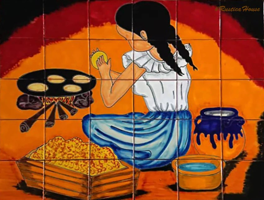 tile mural culinary taraditions