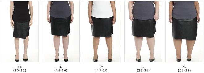 More looks for Mosman Leatherette Skirt - Black in Universal Standard