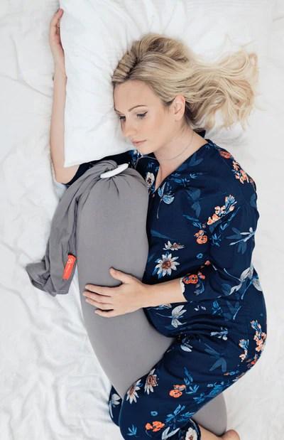 bbhugme pregnancy pillow grey plum