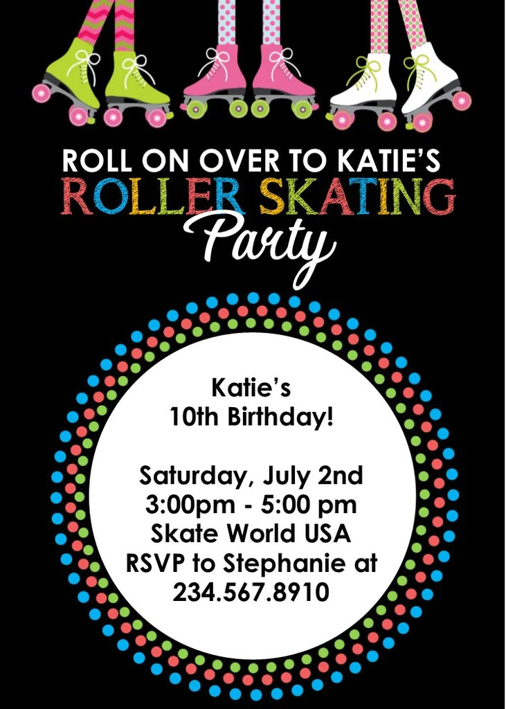 neon party invitations blank