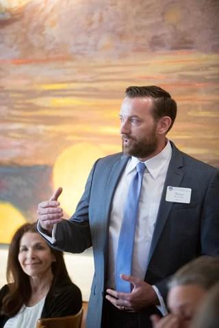 Sean Brownlee MIIS Speaking to Group Alumni Volunteer Service Award Monterey California 2019