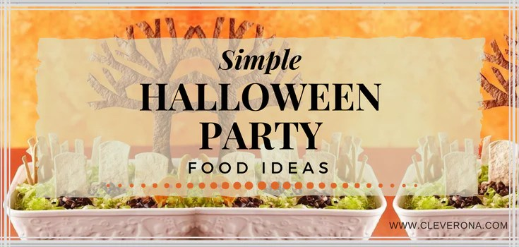 simple halloween party food