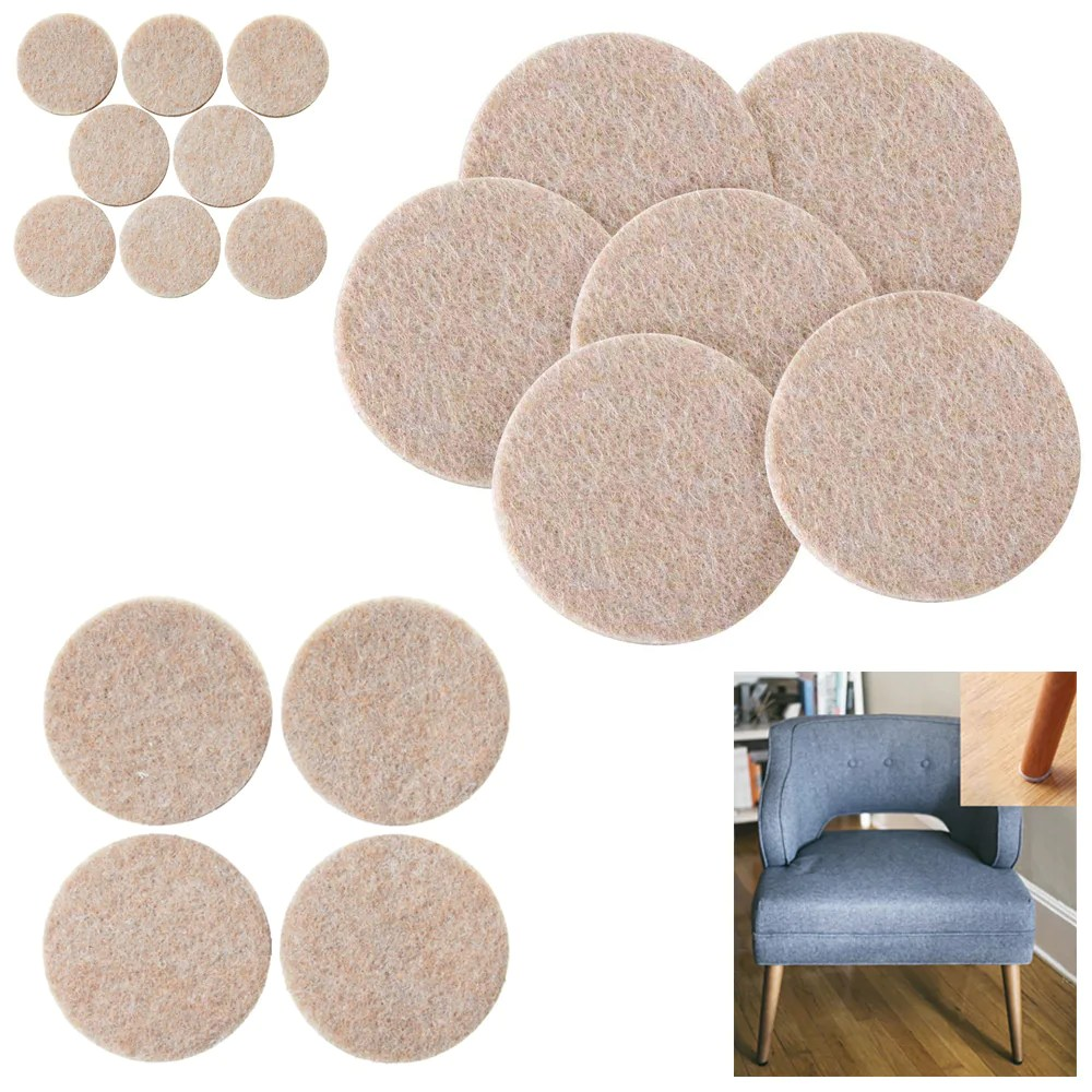 Felt Chair Pads 152pc Furniture Table Chair Leg Felt Floor Scratch Protectors Pads Self Adhesive