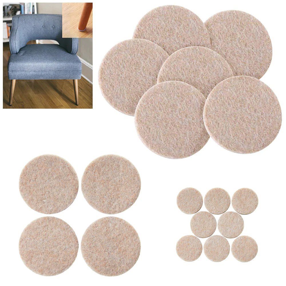 Felt Chair Pads 76pcs Furniture Pads Self Adhesive Felt Foam Floor Scratch Protector Chair Table