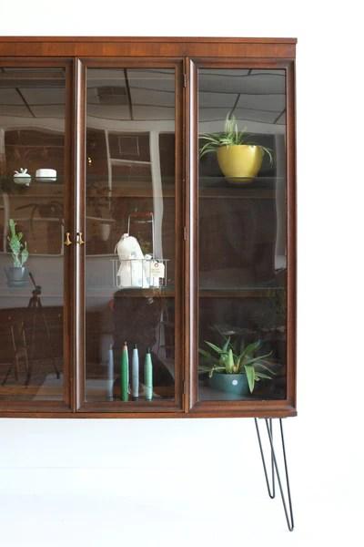 Broyhill Brasilia Curio Cabinet  Atomic Furnishing  Design