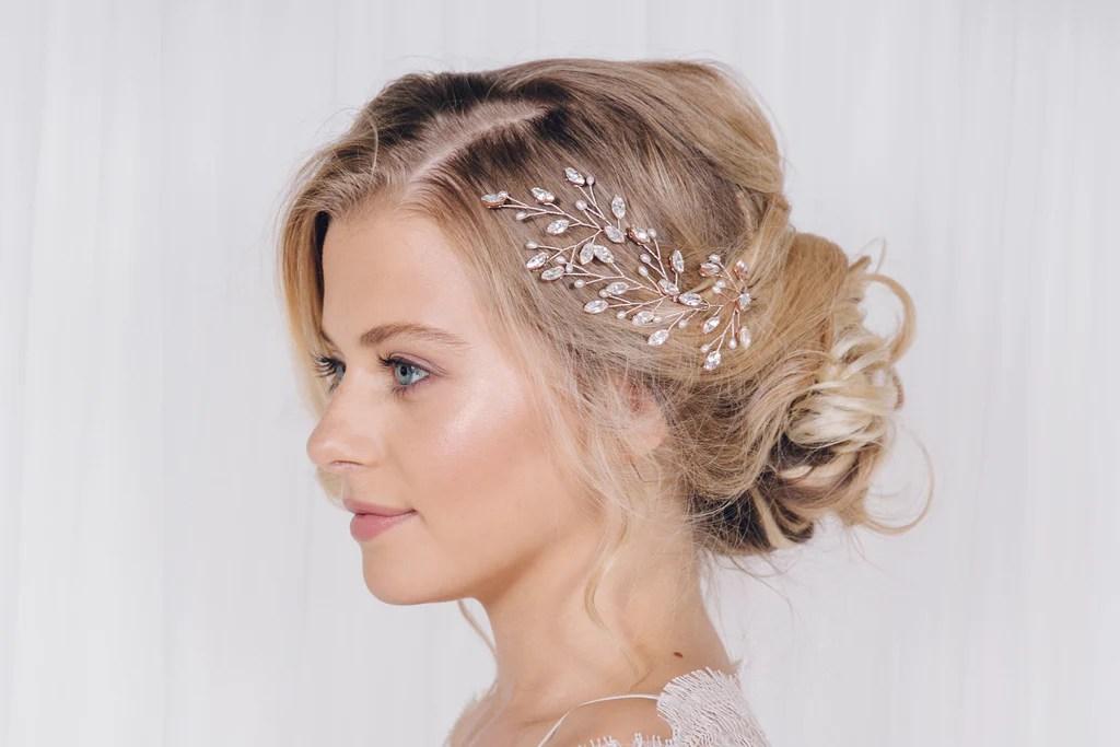 pearl and swarovski crystal wedding hair pins