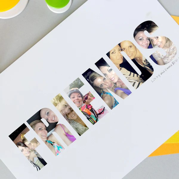 Personalised Photograph Friends Print Hello Ruth