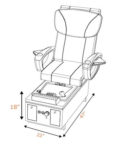 ANS Katai II Spa Pedicure Chair W/ Front-Storage Drawers