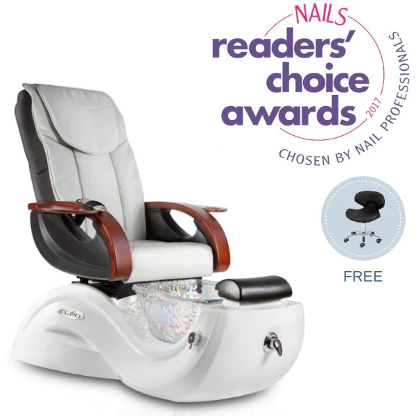 butterfly pedicure chair purple side chairs aria j a cleo gx with free tech stool cart nails mag readers